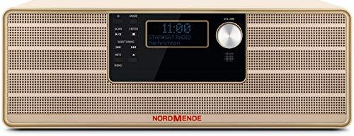 Nordmende Transita 320 - Sistema stereo di alta qualità con lettore CD, Bluetooth, DAB+ e ricezione FM beige.