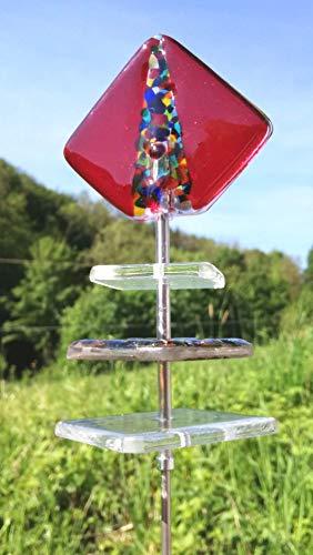 Gartenstecker Glas Sonnenfänger bewegt sich im Wind Sonnentänzer Sun Swinger Sun dancer Gartenstecker Sun Dancer