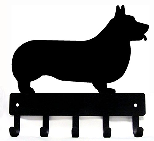 The Metal Peddler Corgi Dog - Key Hooks & Holder - Small 6 inch Wide - Made in USA