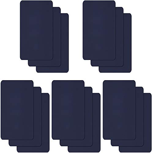 Willbond 15 Pieces Nylon Repair Patches Self-Adhesive Nylon Patch Waterproof Lightweight Repair Patches for Clothing Down Jacket Repair Holes Tearing (Dark Blue)