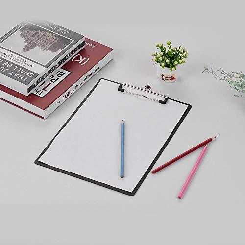 Heng Plastic klembord Metalen clip Schrijfblok Bestandsmap Documenthouder met ophanglus Briefpapier, Wit - Bill Style