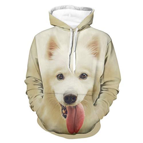 OwlOwlfan Suéter de perro para mascotas con capucha y bolsillo de canguro...