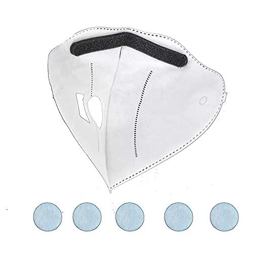 Original Rsenr R11 Electric Wearable Air Purifier Fan Filter*5, Inner White Filter*1