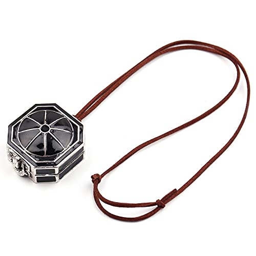 Collar de brújula Jack Sparrow Box Collar de gargantilla con colgante de brújula para hombres y mujeres Wanderlust Trinkets Colar Cosplay Jewelry - Collares EE. UU.