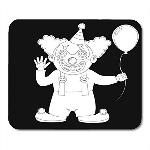 Alfombrilla de ratn para juegos Lindo disfraz de Halloween Nio vestido como payaso malvado terrible en campana con decoracin de bola Oficina antideslizante Respaldo de goma Alfombrilla de ratn Alf