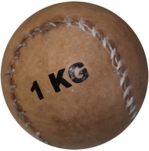 Boje Sport Medizinball aus Leder 1 kg - Ø 11 cm
