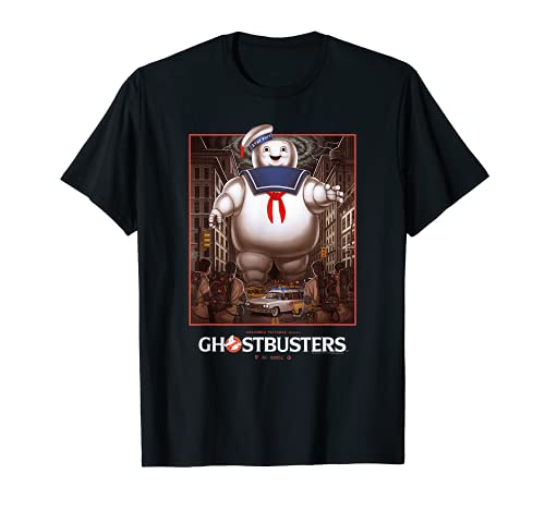 Ghostbusters Stay Puft Giant Marshmallow Man Scene T-shirt, Men or Women, S to 3XL