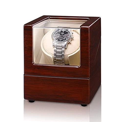 AMAFS Reloj de pulsera con correa para reloj de pulsera, caja de reloj de pulsera, caja de almacenamiento con motor silencioso y 5 modos de rotación para la mayoría de relojes de pulsera festival