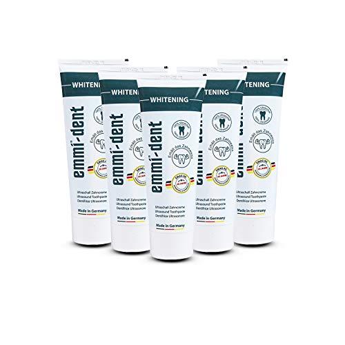 emmi®-dent Zahnpasta für Ultraschallzahnbürsten – Whitening – mit Sogwirkung, 75 ml (5 Stück)