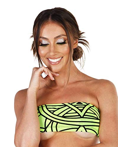 iHeartRaves Cyber Kinetic Mesh Tube Top (Neon Green, Small)