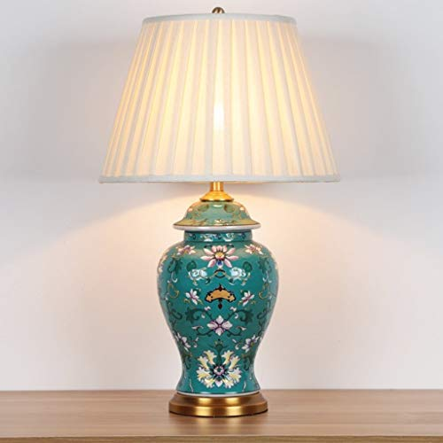 YAOLUU Lámpara de Mesa Rústica de Granja De Lujo de cerámica Lámpara de Mesa Sofá Mesa de Mesa Lámpara de Mesa Retro de la lámpara de la Sala Dormitorio de la lámpara Mesita de Noche Lámparas de Mesa