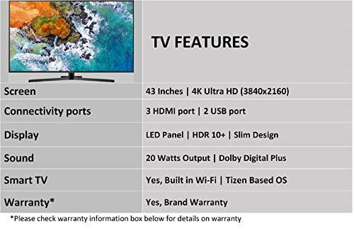 Samsung 108 cm (43 inches) 7 Series 43NU7470 4K LED Smart TV (Black)