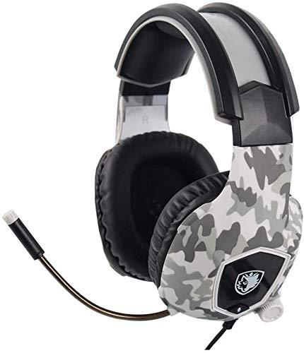 FHW Gaming koptelefoon, hoofd-gemonteerd laptop headset 3.5mm met snoer Bass stereo esports microfoon for PS4 Xbox One PC (puzzel kleur) koptelefoon