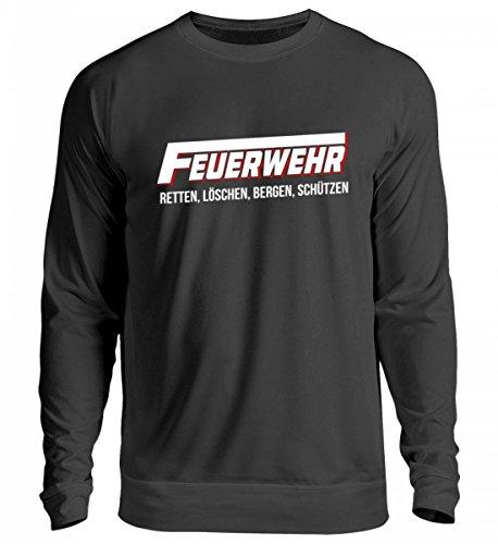 EBENBLATT Hochwertiger Unisex Pullover - Feuerwehr/Freiwillige Feuerwehr/Feuerwehrmann/Feuerwehrfrau