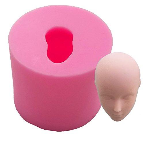 BEAUTY'S CASTLE - Moule en silicone - Loisirs créatifs - Visage de poupée 3D fait à la main - Pour savon, gâteau au chocolat fondant - Outil de cuisson