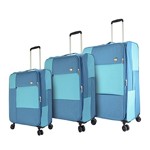 Learn More About Mia Toro M1134-03pc-blu Italy Vasto Softside Spinner Luggage 3pc Set, Blue, One Siz...