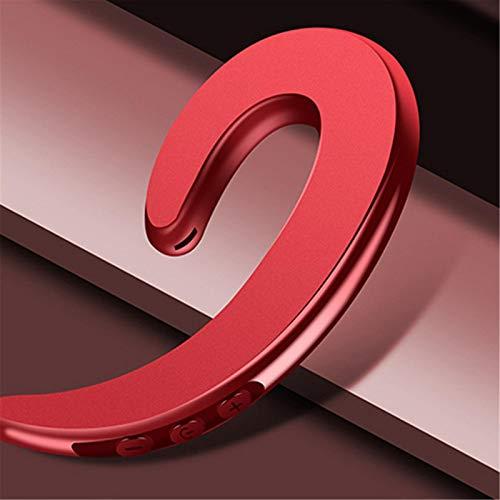 GUANXIN Manos Libres Gancho para La Oreja Auriculares Bluetooth Auriculares InaláMbricos De ConduccióN óSea Sin Dolor Reemplazo De Auriculares Rojo