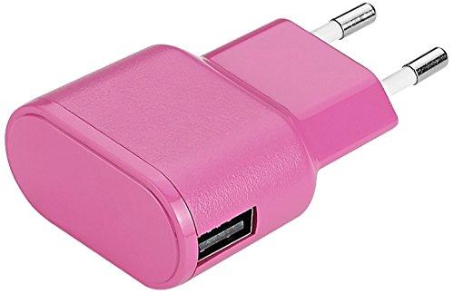 Aiino AIWA1U1A-PK - Cargador de pared compatible con todos los dispositivos Apple 1USB 1A, color rosa