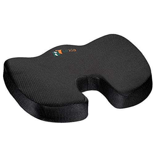 Coccyx Seat Cushion Pillow Orthopedic | Memory Foam Chair Pillow | Relieves Back Tailbone Pressure Sciatica Nerve Pain Relief | Premium Comfort for Home Office Car or Event Seating