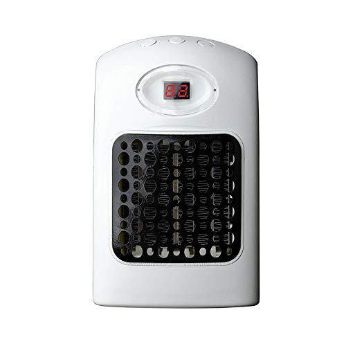 Covok kachel, wit, elektrische extra verwarming, kleine met thermostaat, keramiek compact, snelverwarming, energiebesparend stil, voor gebruik binnenshuis wit