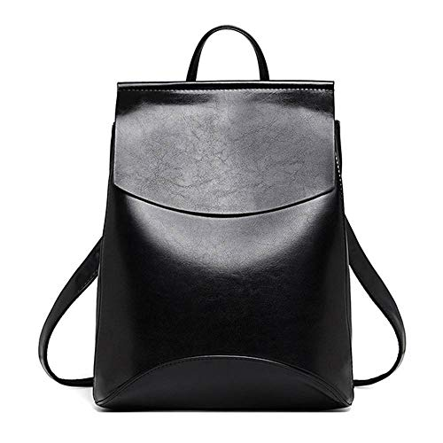 Reiselaptoprucksack schwarz genarbt Passend für Laptop 33 * 26 * 12cm