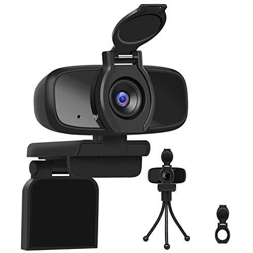 LarmTek - Cámara web 1080p Full HD, para ordenador portátil, para conferencias y videollamadas, cámara web Pro Stream con videollamadas, lista para conectar y usar, W2 Pro, Reino Unido