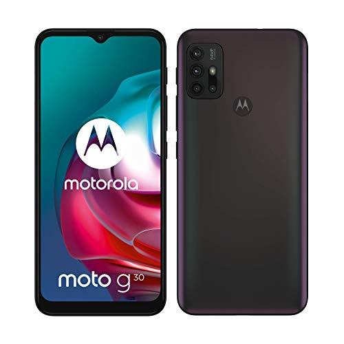 "Motorola moto g30 (6,5""-Display, 64-MP-Kamera, 6/128 GB, 5000 mAh, Dual-SIM, Android 11) Dark Pearl, inkl. Schutzcover [Exklusiv bei Amazon]"