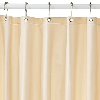 beige shower curtain liner