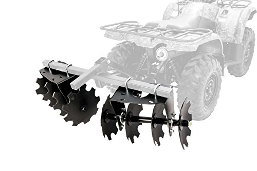 Black Boar ATV/UTV Disc Harrow Implement with Adjustable Sides, for Cultivating, Establishing a Food Plot and Maintaining Your Property (66001)