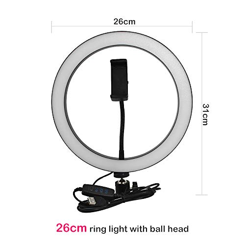 LED Ring Light 10 Inch 5600K Light Lampada Dimmerabile Fotografia Studio Phone Video Con 150CM Treppiede Selfie Stick/USB Plug B