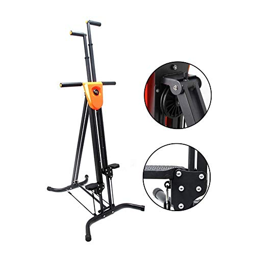 DSHUJC Stoge Vertical Climber Stepper Machine,Exquisite Roller,Adjustable Height,Reinforced pedalfor,Full Body Cardio Workout,for Home