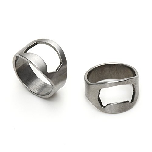 IGGI, roestvrij staal, ring, vinger, flesopener, zilver met logo IGGI 2