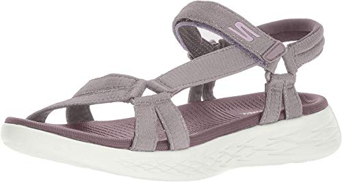 Skechers On-The-go 600-Brilliancy, Sandalia con Pulsera para Mujer