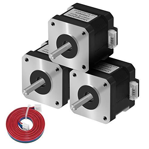 Usongshine Nema 17 Schrittmotor, 1.5A High Torque 420mN.m (59.5 oz.in) 2-Phasen 4-Draht 1.8° Stepper Motor für CNC 3D Drucker Printer/CNC XYZ (4401S 3pcs)