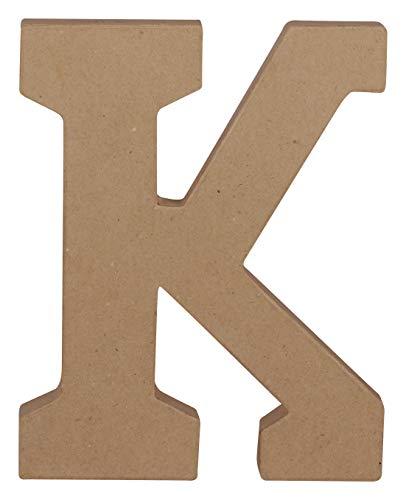 Décopatch AC862C – EIN Ständer aus braunem Pappmaché, 16 x 2,5 x 20 cm, Großbuchstabe K