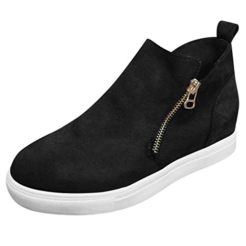 Learn More About Meigeanfang Casual Womens Zipper Boot Soild Ankle Shoes Round Toe Wild Shoes for Wo...