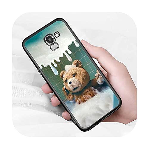 Lindo oso animal para Samsung Galaxy J2 J3 J4 Core J5 J6 J7 J8 Prime duo Plus 2018 2017 2016 suave negro cubierta del teléfono estilo 07-para J4 Core