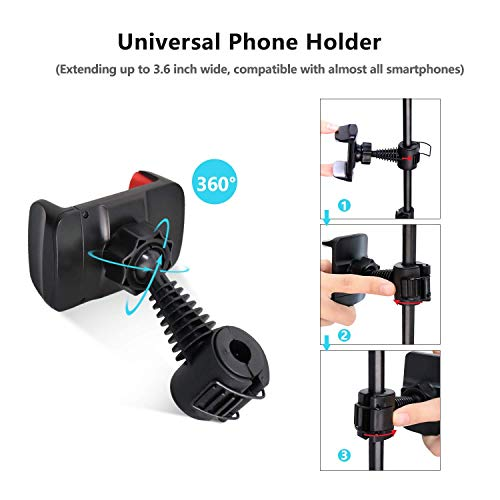 Pole Mount Phone Holder for UBeesize Ring Light with Tripod