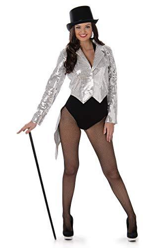 Generique - Frack-Weste 20er-Jahre Kostüm-Zubehör für Damen Silber L