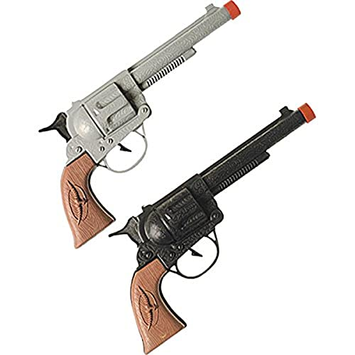 Widmann - AC1410 - Pistolet cow-boy plastique adulte (marron/gris assorti)
