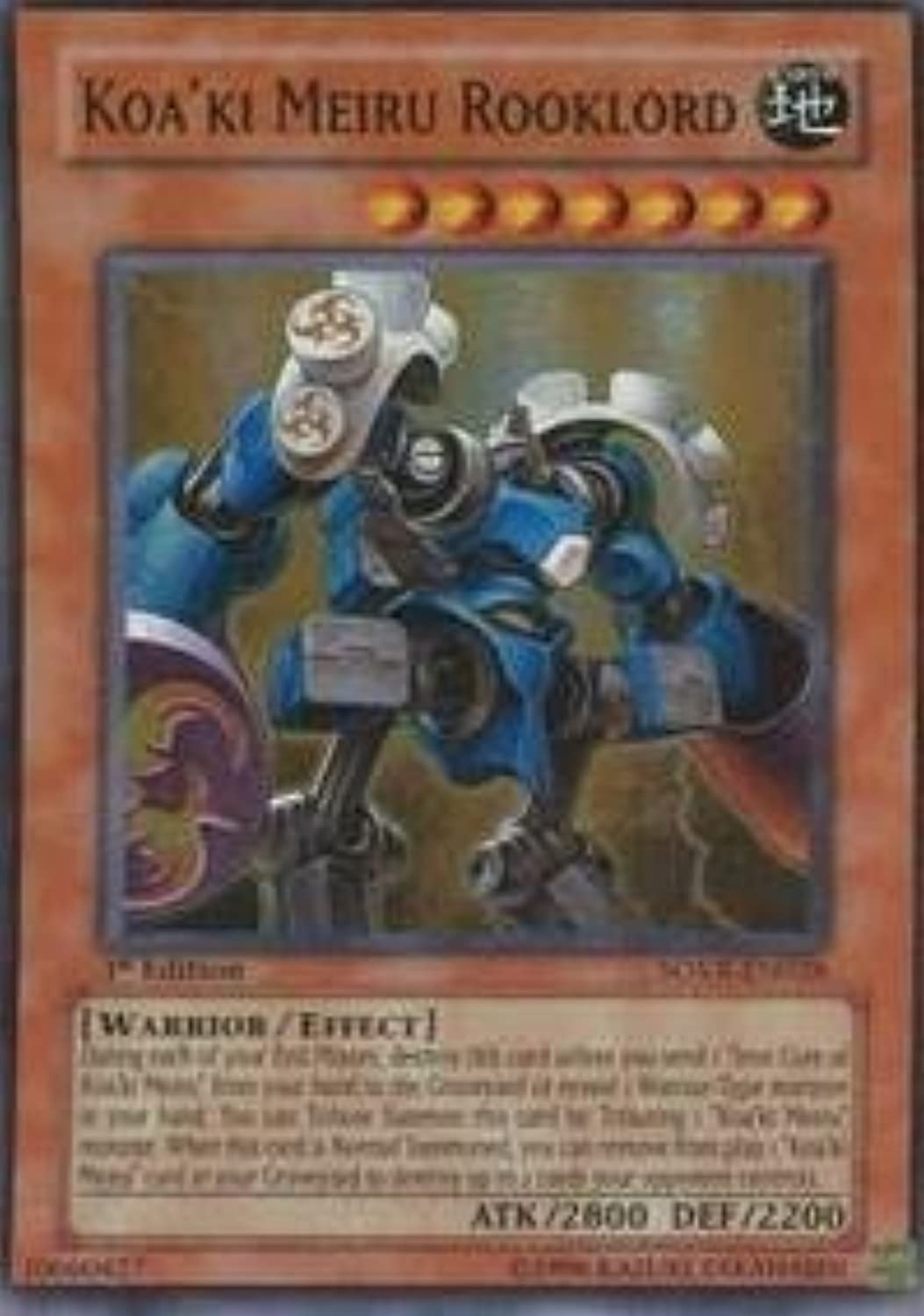 YuGiOh   Koa'ki Meiru Rooklord (SOVREN028)  Stardust Overdrive  Unlimited Edition  Super Rare by YuGiOh