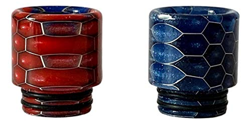 2 Pack, 810 Epoxy Resin Snake Pattern Drip Tip Mouthpieces for TFV8 Big...