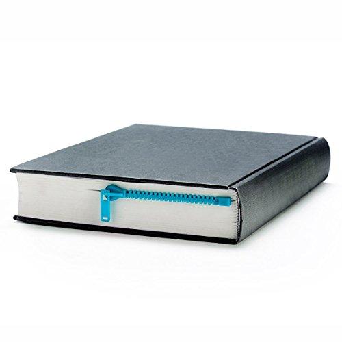 Peleg Design Blue Zipmark ZIPPER Bookmark Book Page Holder