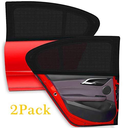 Adoric Auto Sonnenschutz Sonnenblenden UV Schutz,113 * 53 cm(gestreckte Länge)-2 Pack für Seitenscheiben/Autofenster für Baby, Kinder & Haustiere.