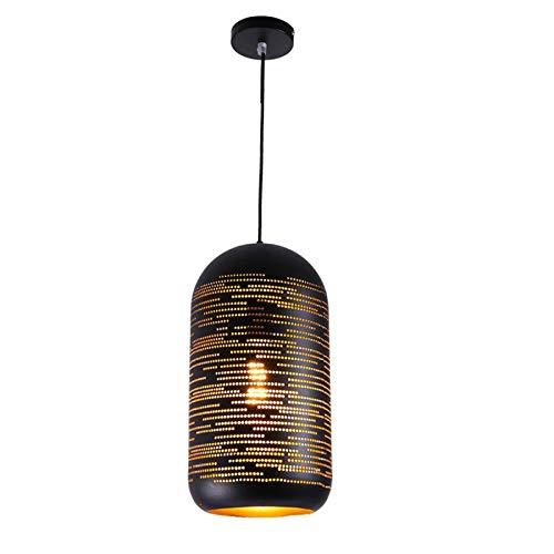 Lámpara Colgante De Techo Retro Tapa De Olla Sombra De Araña Altura Ajustable E27 Lámpara Colgante De Hierro Accesorio Decoración De Dormitorio,11x19cm