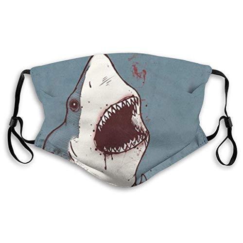 Shark Wearing Plaid Shirt Anti Pollution Cover für Frauen Man Comfort Staubdichte Mundabdeckung Luftfilterabdeckungen