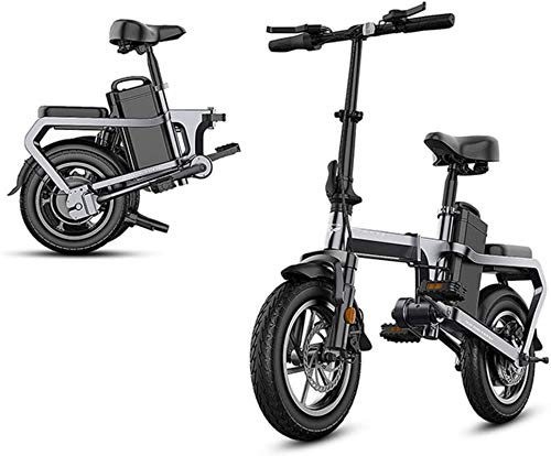 Without Chain Electric Bike, 14in Mini Electric Bicycle 48V Folding City Ebike with Cell Phone Holder, for Adult and Teenager, Loading 150kg/330lbs