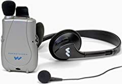1 pock talker Ultra W/ microphone, 12 ft. TV listening cord, one listening headset and single Mini earbud, users guide, 5 year Manufacturer warranty 20-40 dB acoustic Gain, 2 ft. Tv listening cord up to 100-hours of battery life External volume & ton...