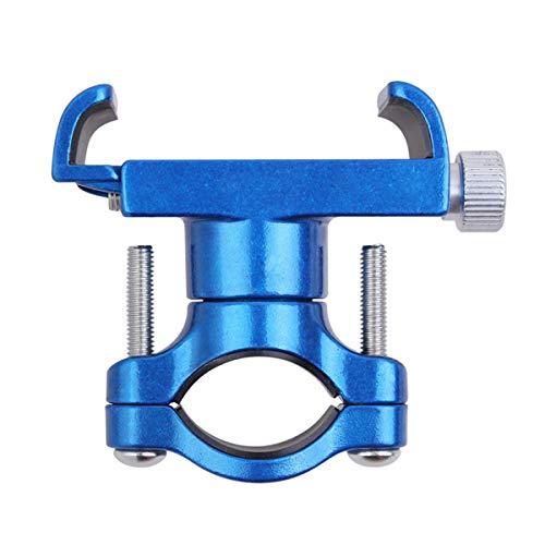 Yagosodee - Soporte de teléfono para bicicleta o moto, manillar de teléfono, aleación de aluminio, soporte para teléfono móvil, color azul
