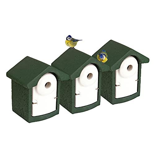 3x Nisthöhle Nistkasten Kleinvögel Einflugloch 28 mm Meisenkasten Meisen Kasten Vogelhaus Holzbeton